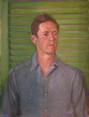 William Shurcliff, age 39, 1948, 29 x 22.5 inches, Oil.