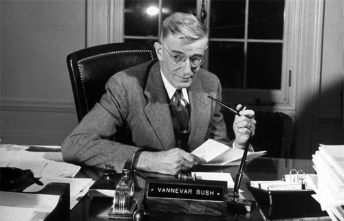 what invention did vannevar bush write about in 1945 essay The college guide to essay writing pdf answers peer editing sheet for argumentative essay letter to friend essay holiday january 2016 college admission essay.