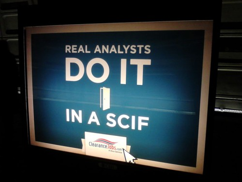 Real Analysts Do It In a SCIF