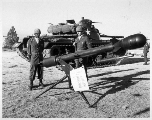 How much of tactical nuclear weapons was just swagger? Above, the Davy Crockett weapons system, in full-swagger mode.