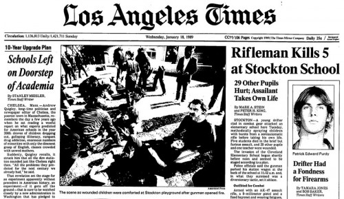 1989 - LA Times - Stockton massacre