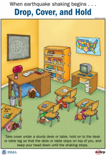 FEMA poster for earthquake drills