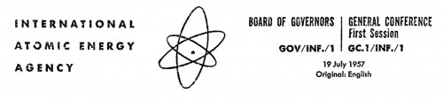 IAEA letterhead, July 1957