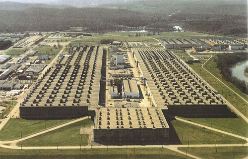 The Oak Ridge K-25 plant in 1945.