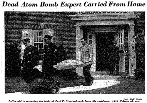 1946 - Dead Atom Bomb Expert Carried From Home