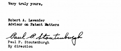 Stoutenburgh signature from the Manhattan Project files