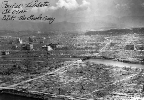 Hiroshima in black and white