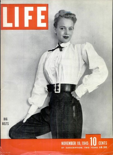 Life magazine - November 1945 - Big Belts