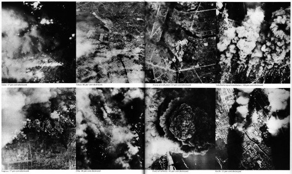 B-29 bombing damage mosaic from Bombers Over Japan.