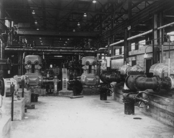 Air compressors and water pumps from K-1101 Building