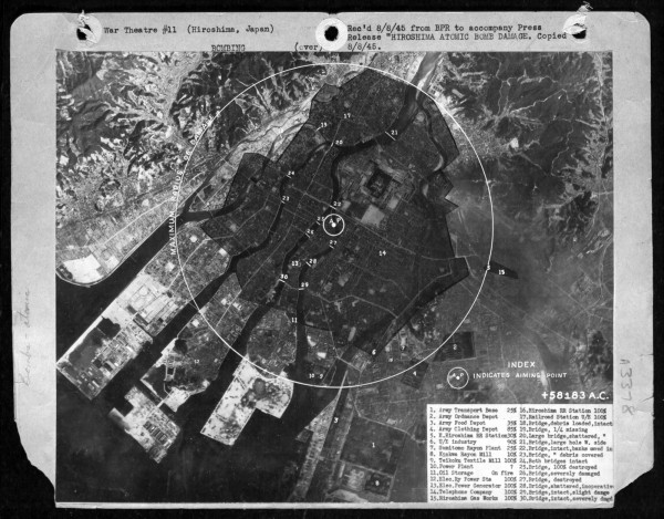 Hiroshima damage map
