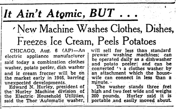 1945-08-07 - Boston Globe - Washing Machine