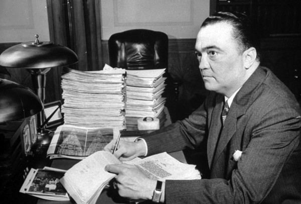 J. Edgar Hoover, 1941. Source.