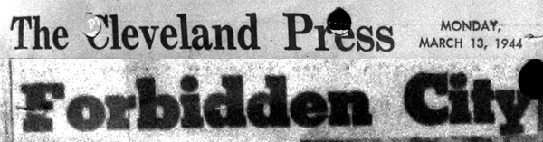 1944 - Forbidden City - Masthead