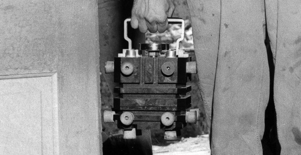 The magnesium box used for transporting the plutonium core to the Trinity site. Via Los Alamos.