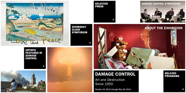 Damage Control exhibit site