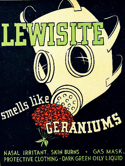 Lewisite identification poster from World War II.