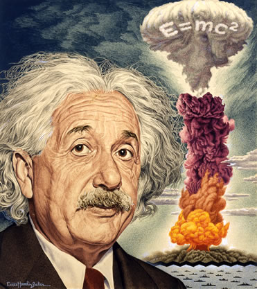 1946 - Einstein Time magazine - detail