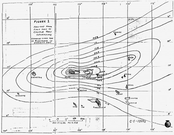 One of the early Bravo fallout contours. Source.