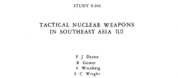 1967 - Tactical Nuclear Weapons in Southeast Asia