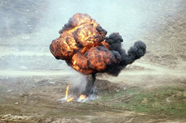A napalm attack in the Vietnam War. Source.</a