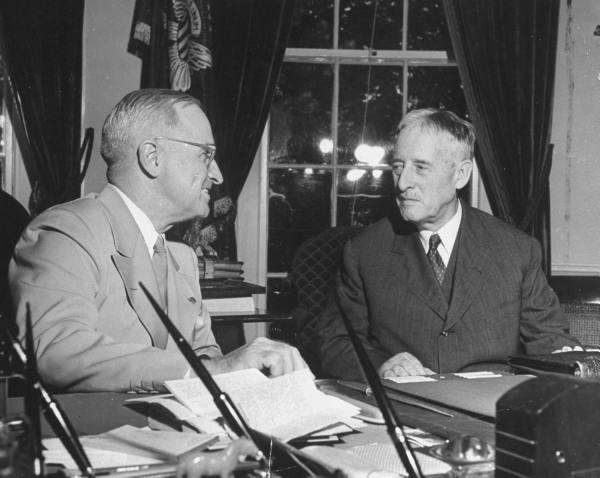 Truman and Stimson, August 1945. Source: George Skadding, LIFE Magazine.