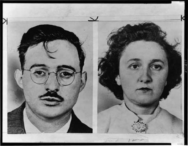 Mugshots of Julius and Ethel Rosenberg. Source: Library of Congress.