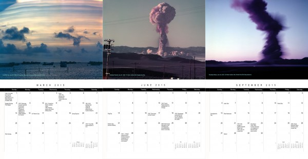 2015 Nuclear Testing Calendar preview