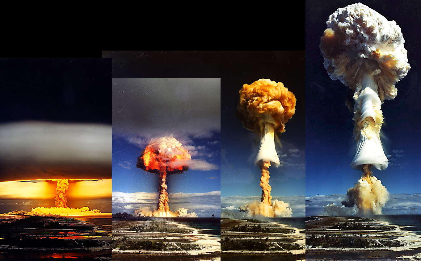 Mushroom cloud (with scale) : interestingasfuck