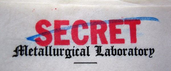 Met Lab - secrecy stamp (photograph by Alex Wellerstein)