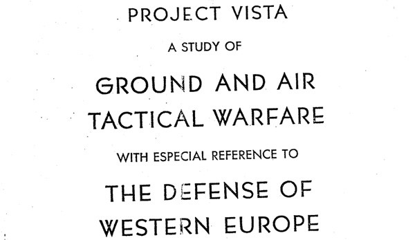 Project Vista cover page