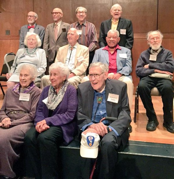 Some of the attending Manhattan Project veterans. Photo by Alex Levy of the Atomic Heritage Foundation.