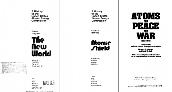 AEC histories, volumes 1-3