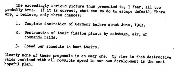 The palpable fears of Arthur Compton, June 1942.