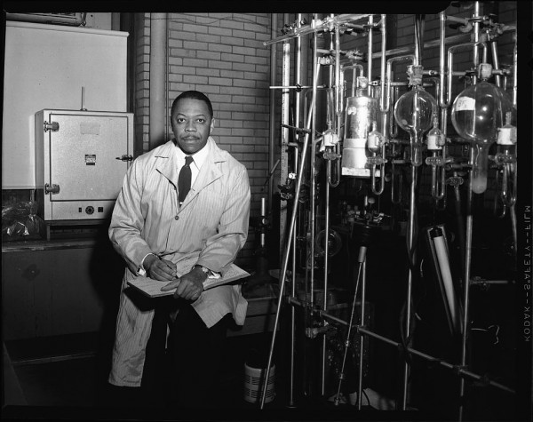 "Met Lab chemist Moddy Taylor (photo from 1960) — not the ""typical"" image of a Manhattan Project scientist. Source: Smithsonian Institution, National Museum of American History."