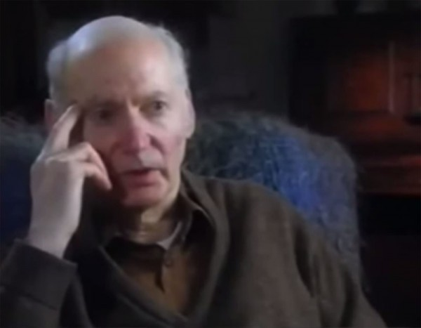 Ted Hall in his 70s, being interviewed for CNN's Cold War series (episode 21).