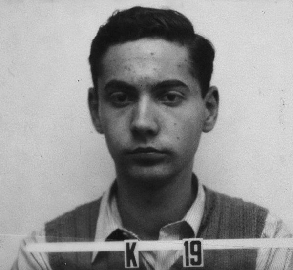 Ted Hall's Los Alamos badge photograph — teenage angst, Soviet mole.