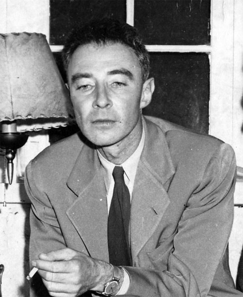 Oppenheimer at Los Alamos. Source: Emilio Segrè Visual Archives.