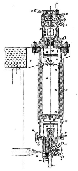 Diagram of the most up-to-date West German centrifuge machine from 1960, in a Union Carbide report. From National Security Archive's Electronic Briefing Book No. 518.