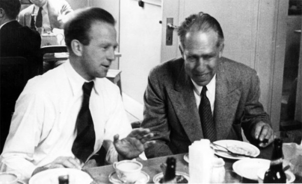 Heisenberg and Bohr in Copenhagen in the early 1930s. Source: Emilio Segrè Visual Archives, American Institute of Physics.