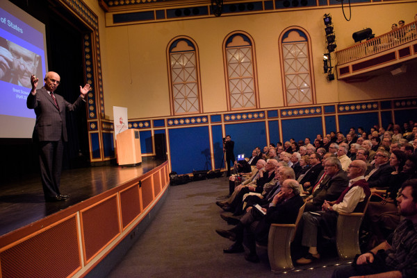 Hayden's lecture in De Baum auditorium, at Stevens.