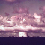 An unusual color (but not colorized!) photograph of the Crossroads Baker detonation, from LIFE magazine. Source.