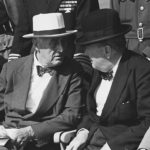 Atomic diplomacy: Roosevelt and Churchill at Quebec, in September 1944. Source: NARA via Wikimedia Commons